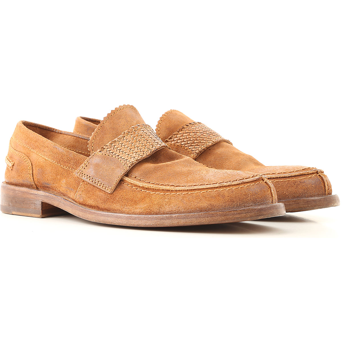 Moma Loafers for Men On Sale, cuir, Suede leather, 2019, 10 8 9