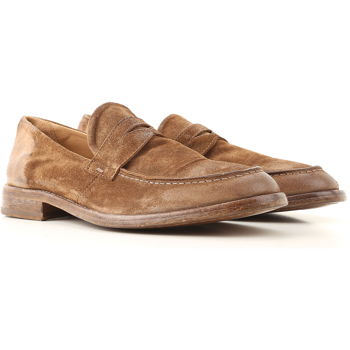 Moma Loafers for Men On Sale, Sigaro, Suede leather, 2019, 10 8 9