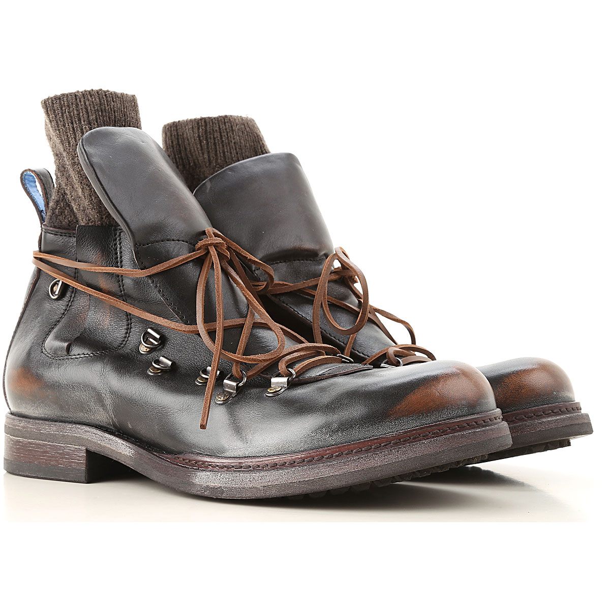 Moma Boots for Men, Booties On Sale, Brown, Leather, 2019, 10 10.25 7 7.75 9.5