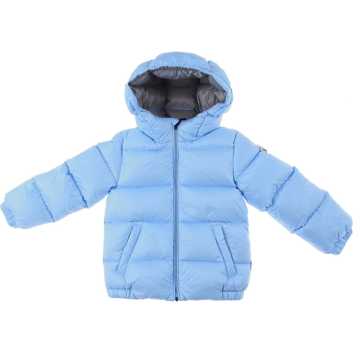 Moncler Baby Down Jacket for Boys On Sale, Skyblue, polyamide, 2019, 12 M 18M 3Y 9M
