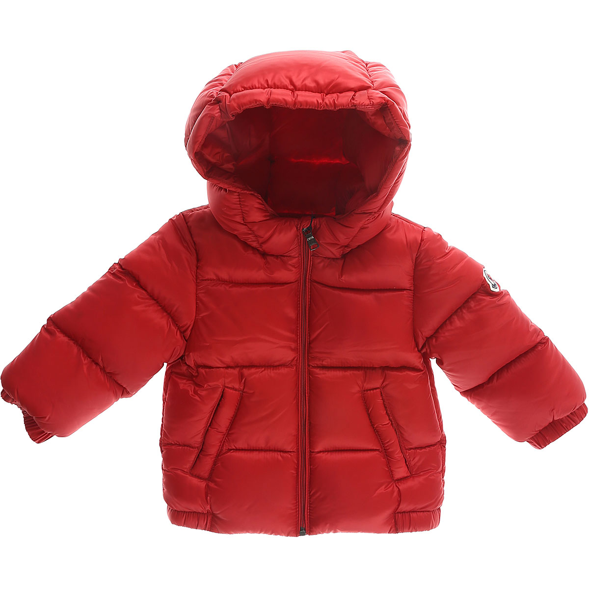 Image of Moncler Baby Down Jacket for Boys, Red, polyamide, 2017, 12M 18M 9M