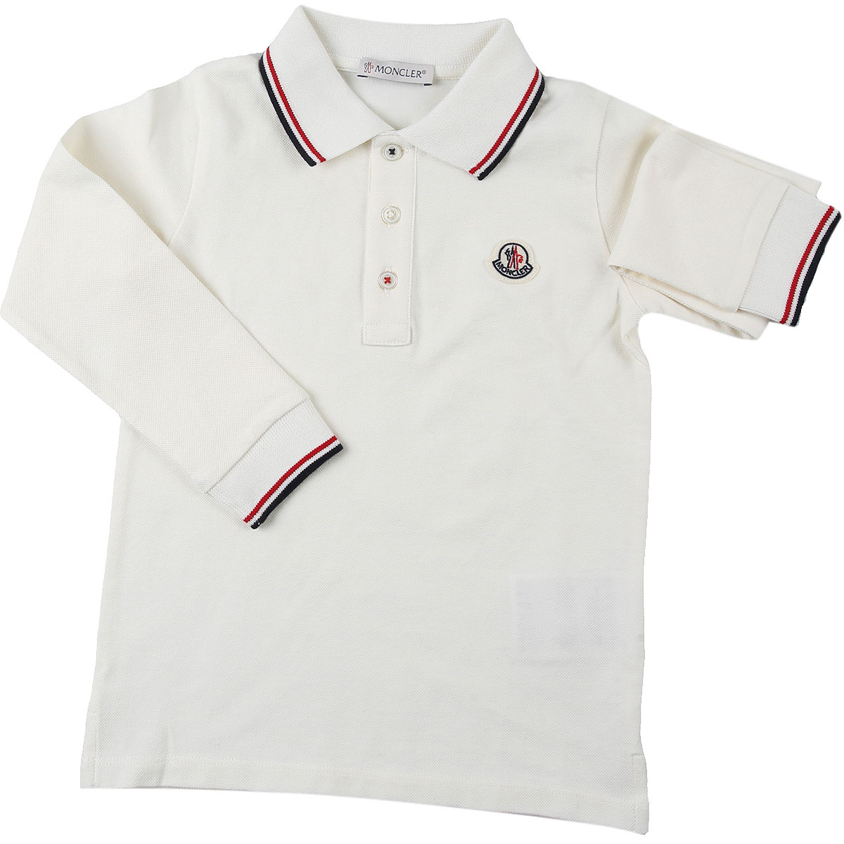 Moncler Baby Polo Shirt for Boys On Sale, White, Cotton, 2019, 18M 24M 3Y 9M