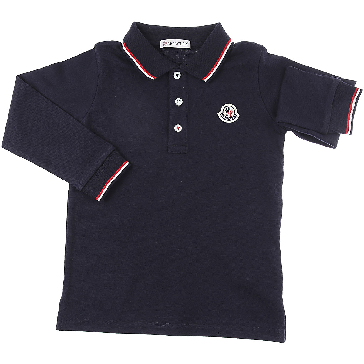 Moncler Baby Polo Shirt for Boys On Sale, Blue, Cotton, 2019, 12 M 24M