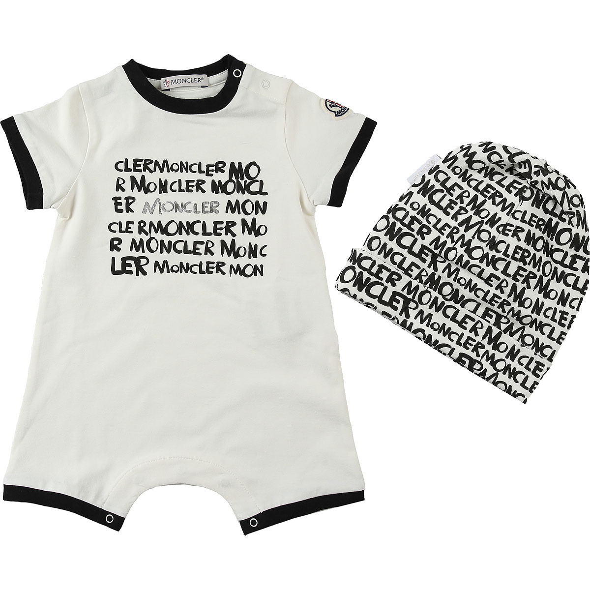 Moncler Baby Sets for Boys On Sale in Outlet, White, Cotton, 2019, 3M 6M 9M
