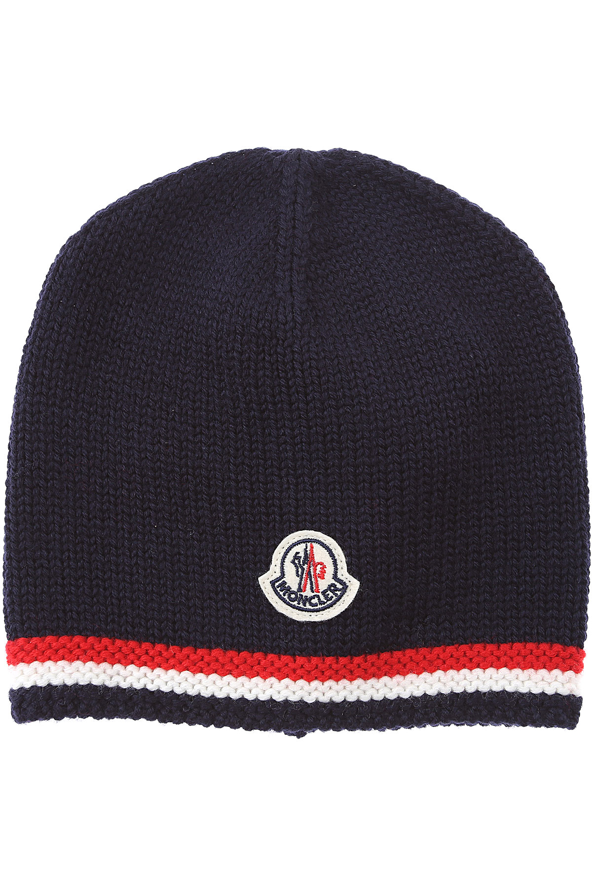 Moncler Baby Hats for Boys On Sale, Blue, Virgin wool, 2019, 0M 1M