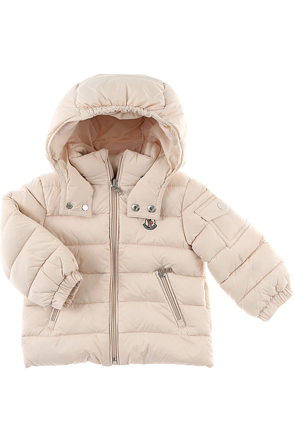 Image of Moncler Baby Down Jacket for Girls, Pink, polyamide, 2017, 12M 18M 6M 9M