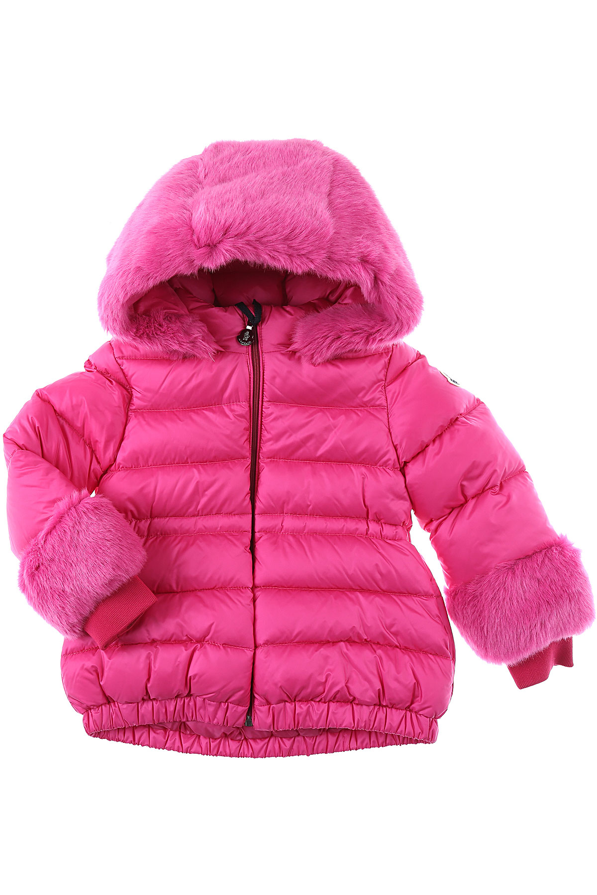 Moncler Baby Down Jacket for Girls On Sale, fucsia, polyamide, 2019, 12M 24M 2Y 3Y