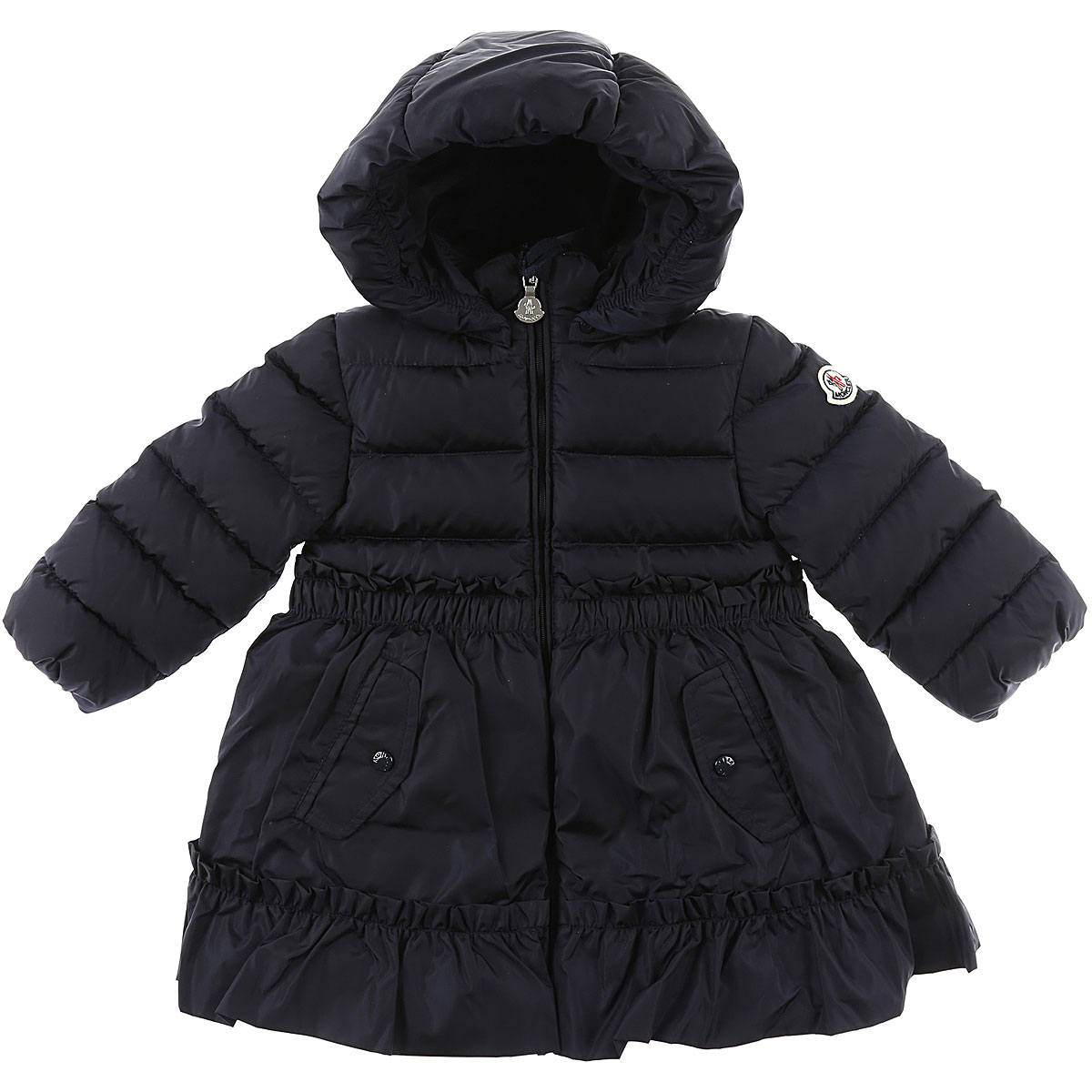 Image of Moncler Baby Down Jacket for Girls, Blue, polyamide, 2017, 12M 18M