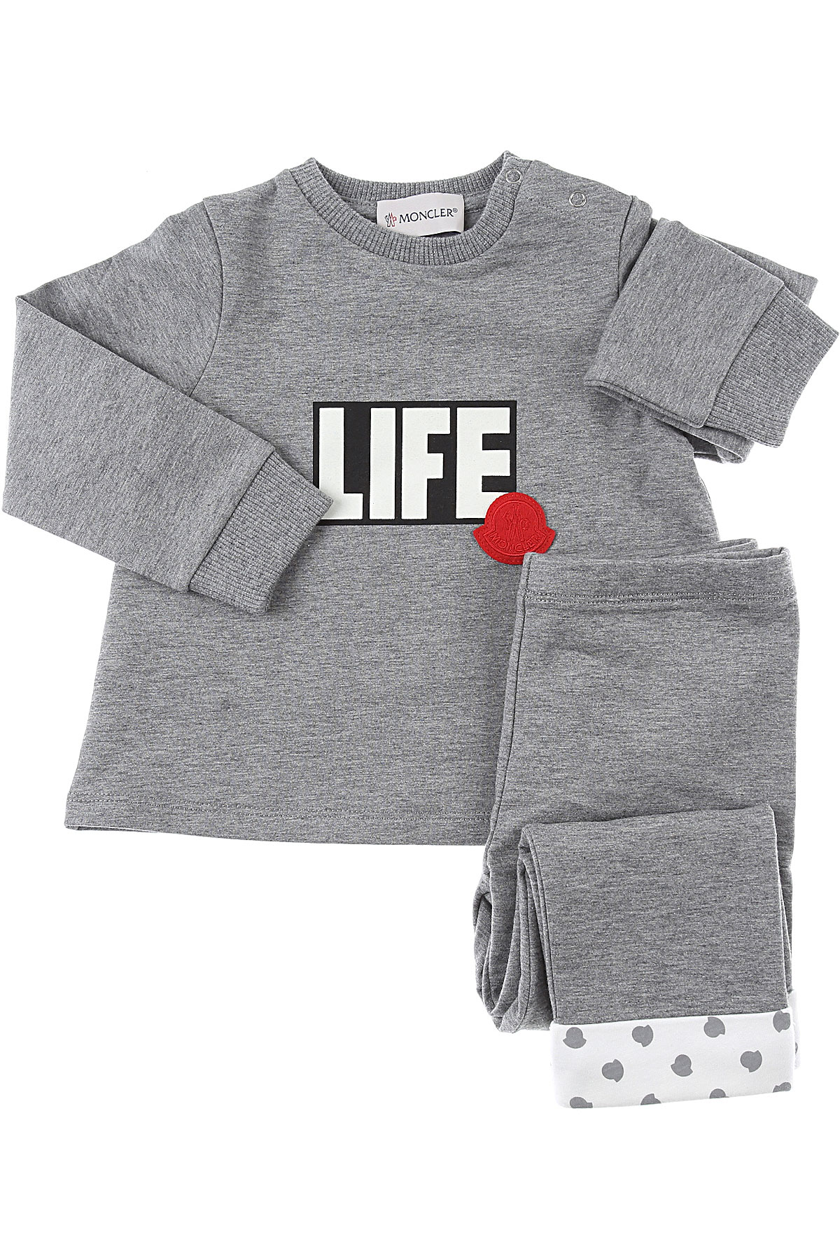 Moncler Baby Sets for Girls On Sale, Grey, Cotton, 2019, 12M 18M 2Y 3Y 6M