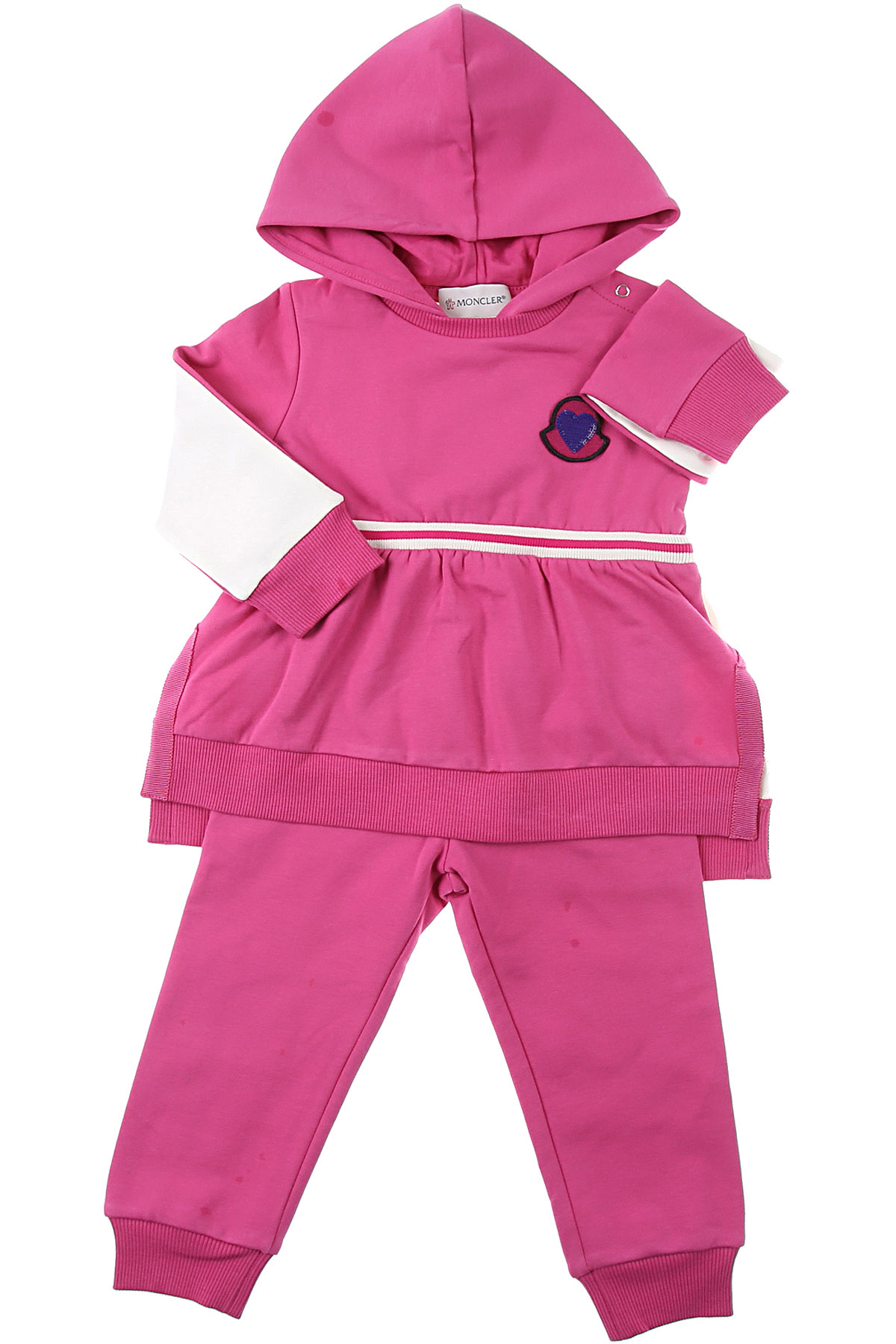 Moncler Baby Sets for Girls On Sale, fucsia, Cotton, 2019, 12M 18M