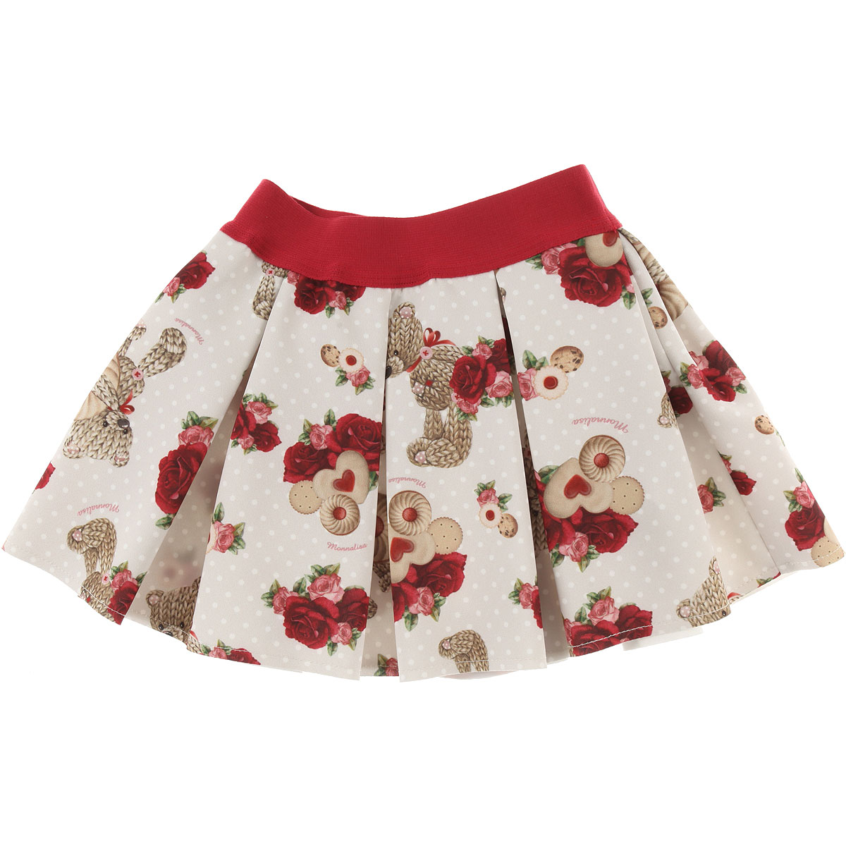 Image of Monnalisa Baby Skirts for Girls, Beige, polyester, 2017, 12M 18M