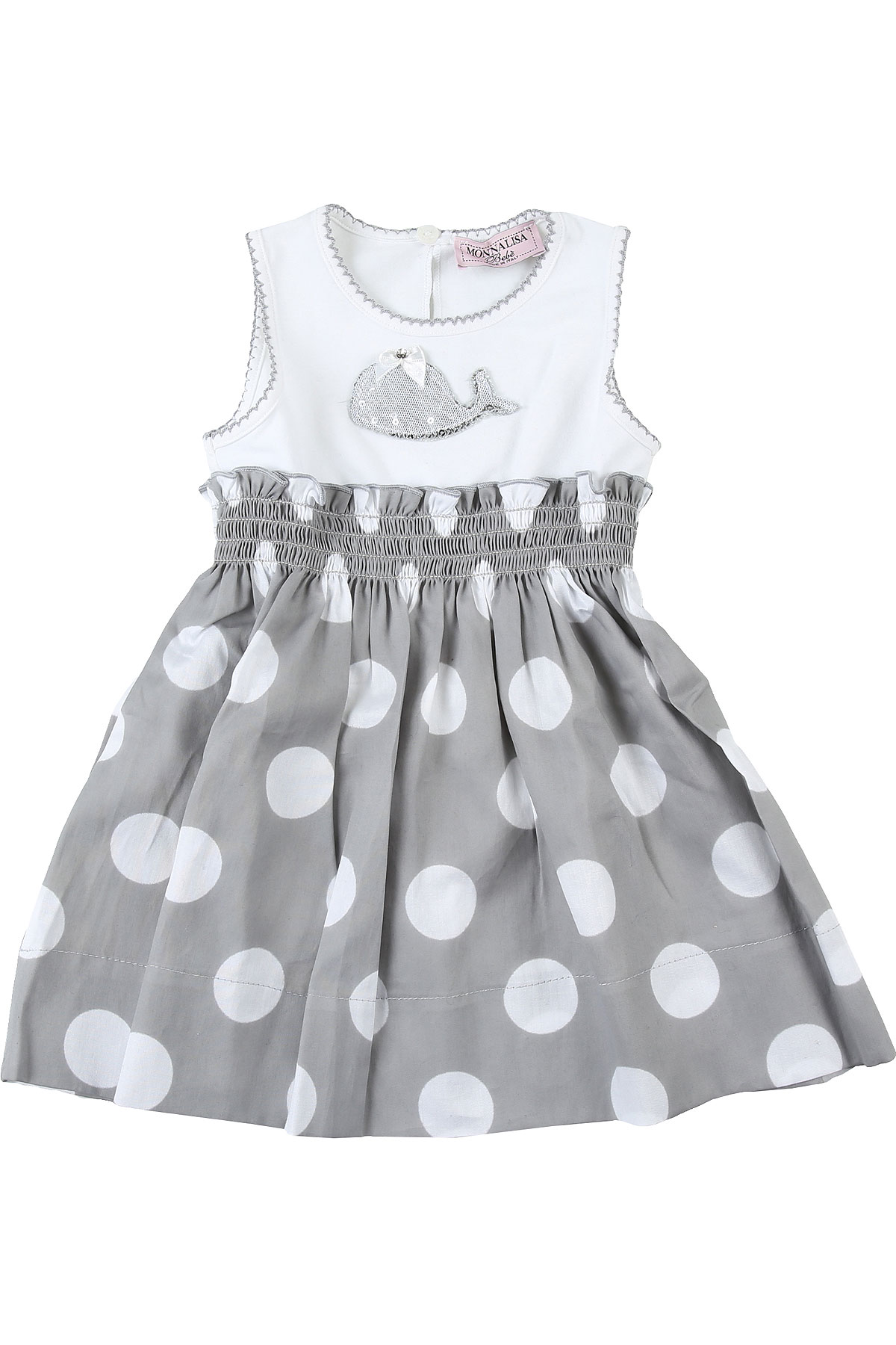 Monnalisa Baby Dress for Girls On Sale in Outlet, White, Cotton, 2019, 2Y 9M