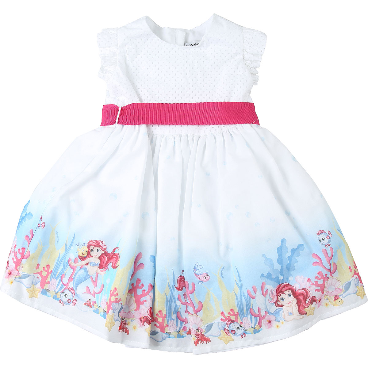 Monnalisa Baby Dress for Girls On Sale in Outlet, White, Cotton, 2019, 12M 18M