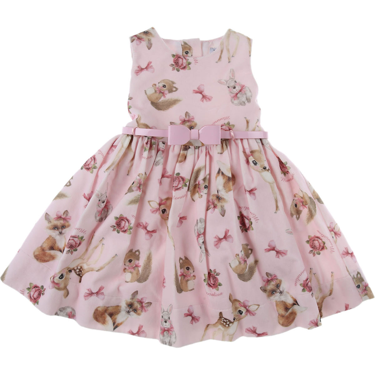 Monnalisa Baby Dress for Girls On Sale, Pink, Cotton, 2019, 12M 18M 2Y 3Y 6M 9M