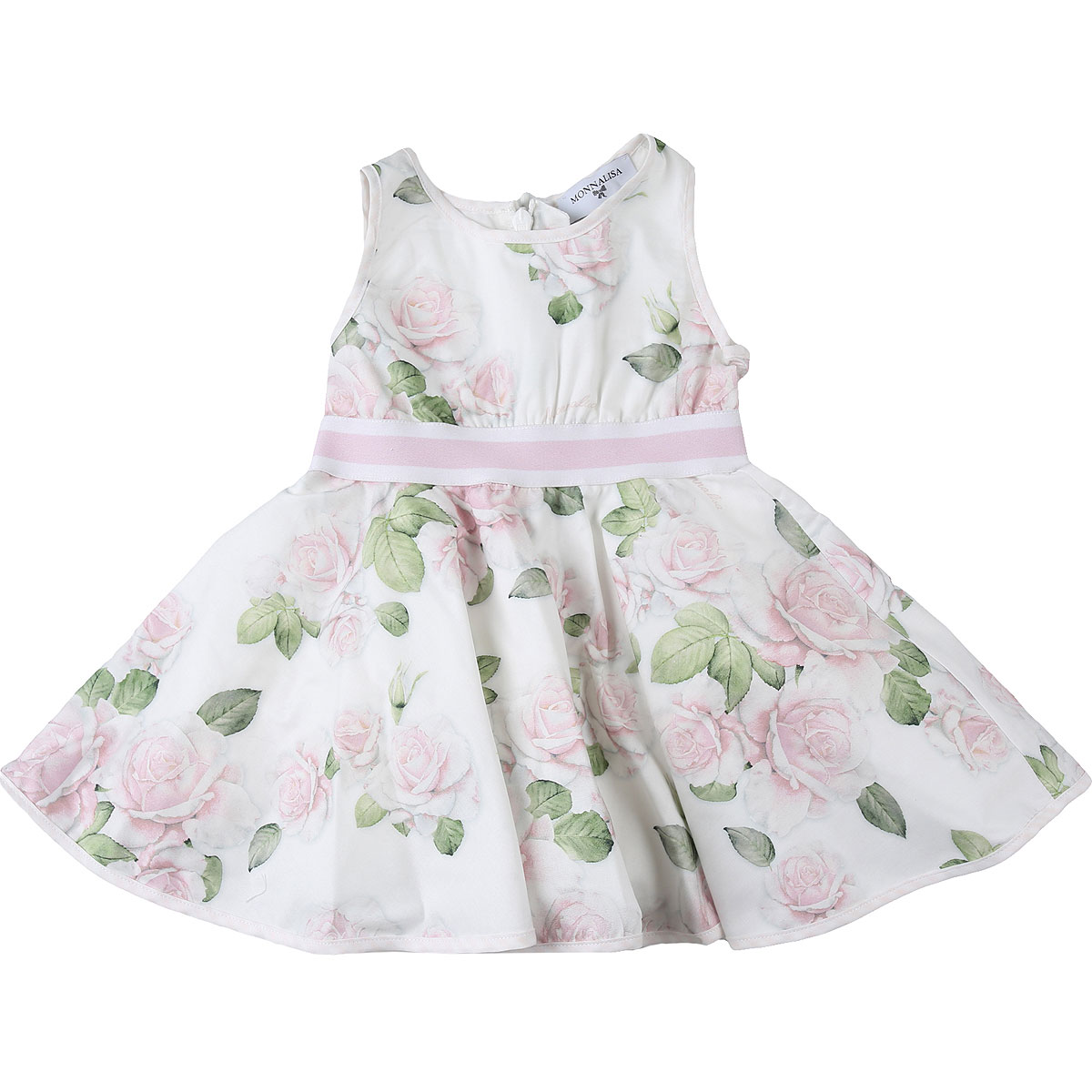 Monnalisa Baby Dress for Girls On Sale, White, Cotton, 2019, 18M 3Y 6M 9M