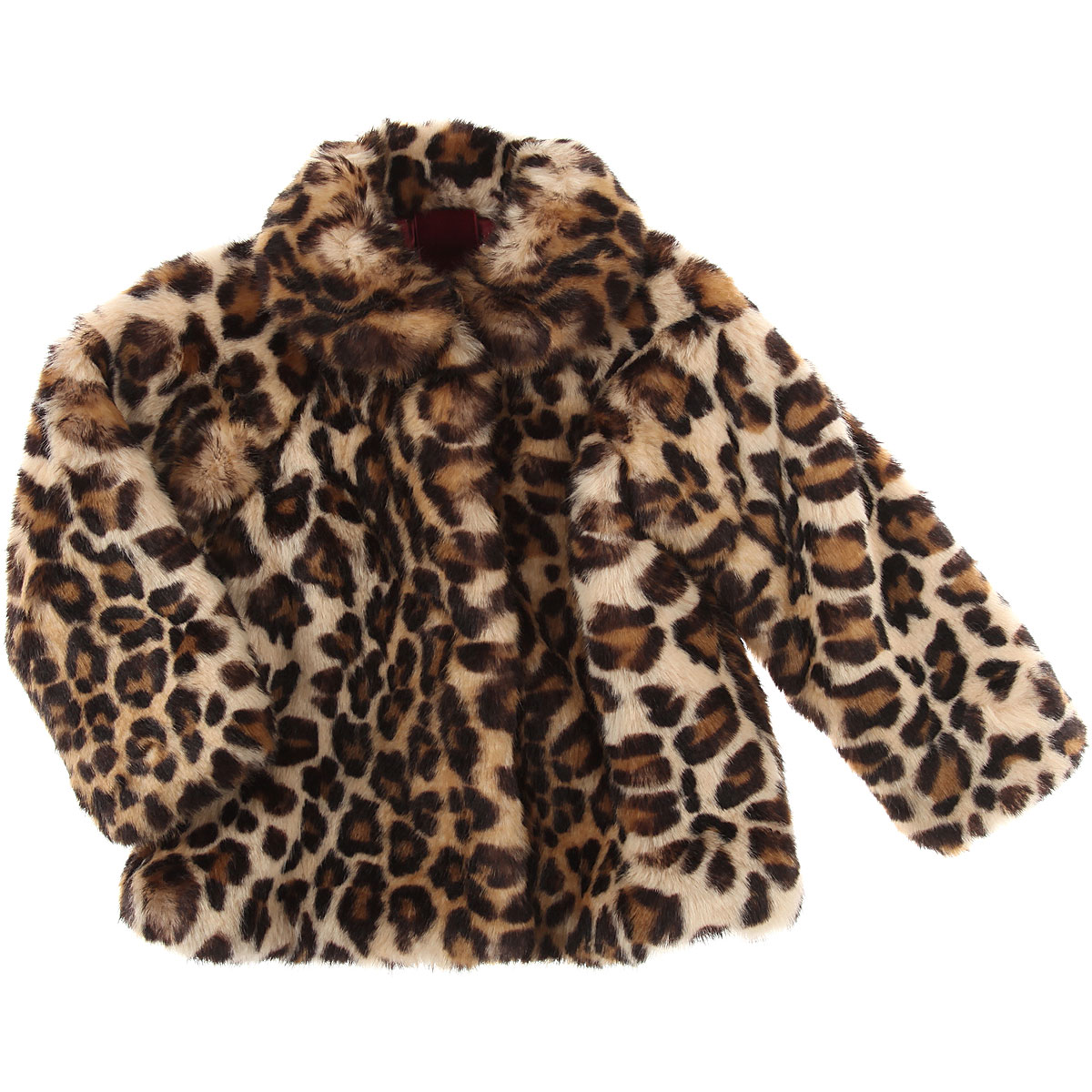 Image of Monnalisa Baby Coats for Girls, Leopard, modacryl, 2017, 12M 18M 2Y