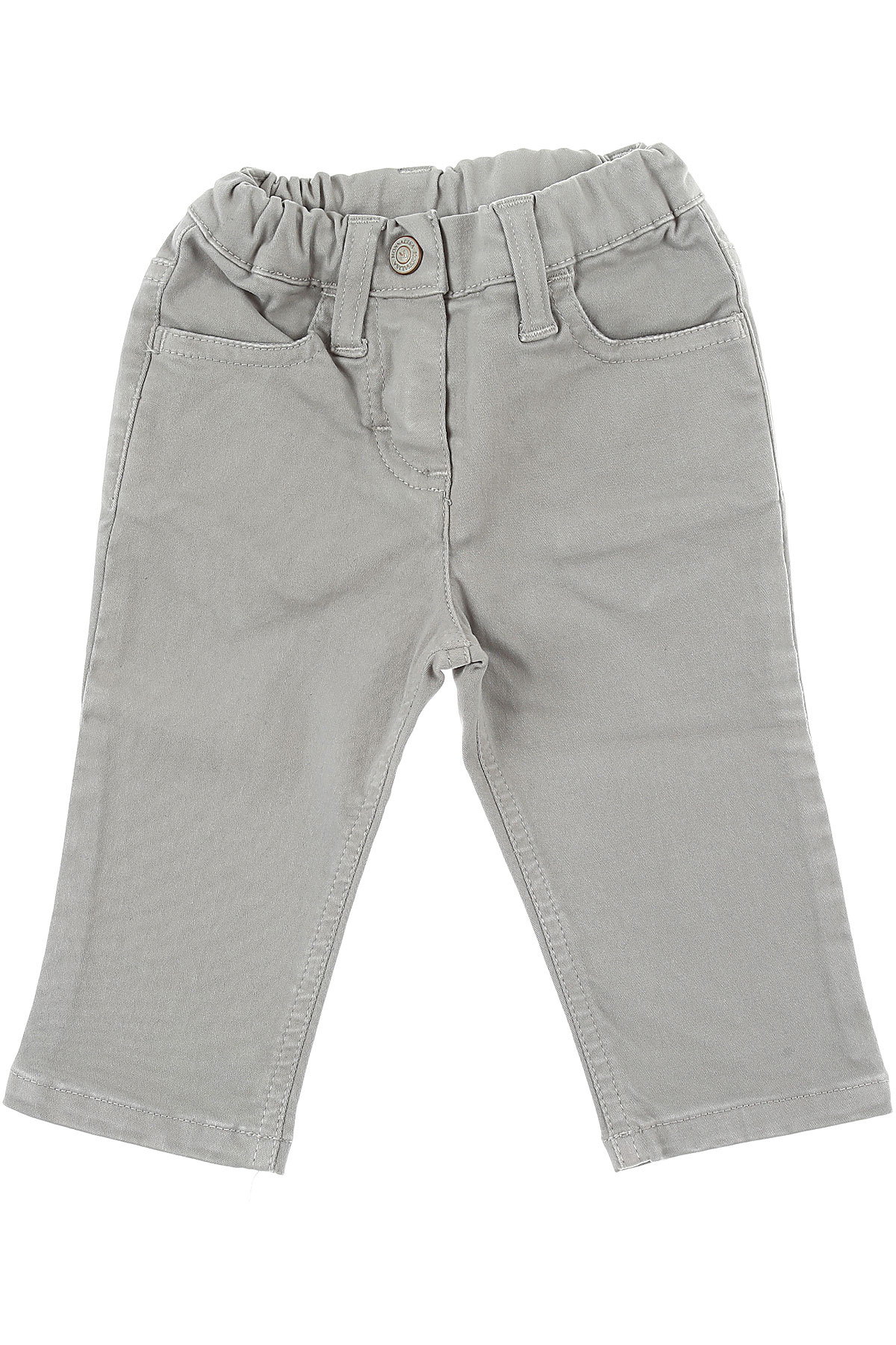 Monnalisa Baby Pants for Girls On Sale in Outlet, Grey, Cotton, 2019, 12M 18M 2Y 6M 9M