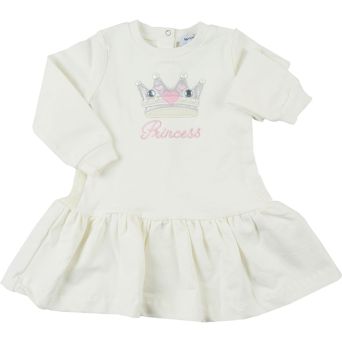 Monnalisa Baby Dress for Girls On Sale in Outlet, Cream, Cotton, 2019, 12M 9M
