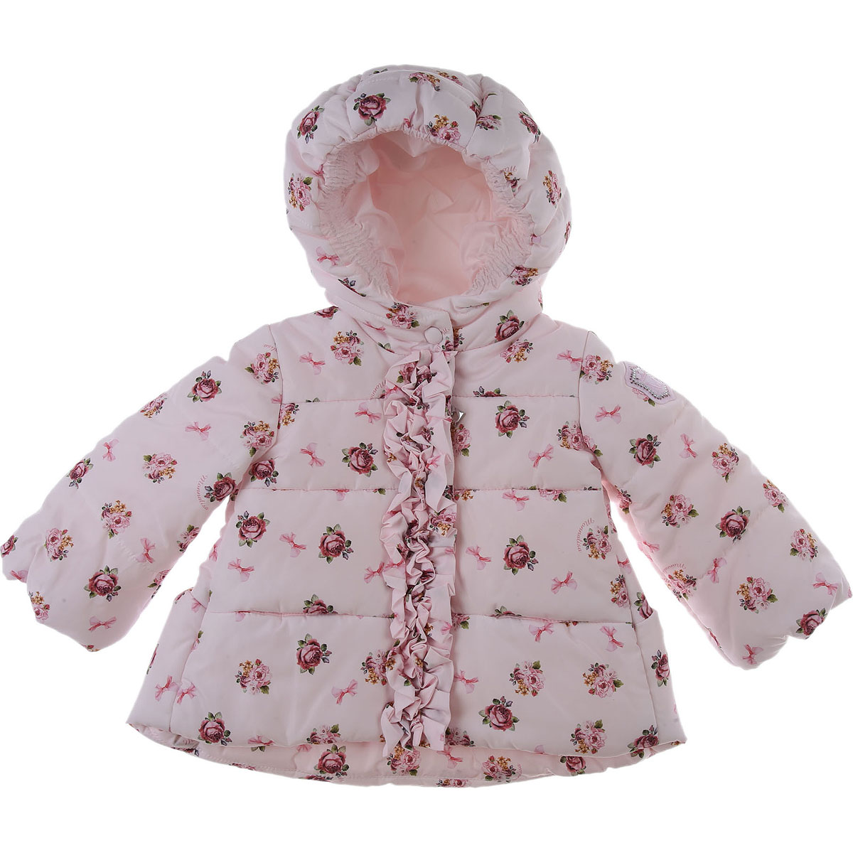 Monnalisa Baby Down Jacket for Girls On Sale, Pale Pink, polyester, 2019, 12M 18M 2Y