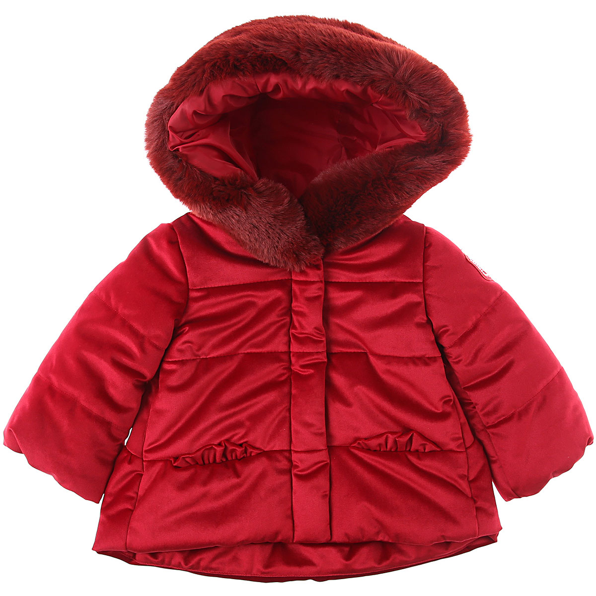 Monnalisa Baby Down Jacket for Girls On Sale, Ruby Red, polyester, 2019, 12M 18M 6M 9M