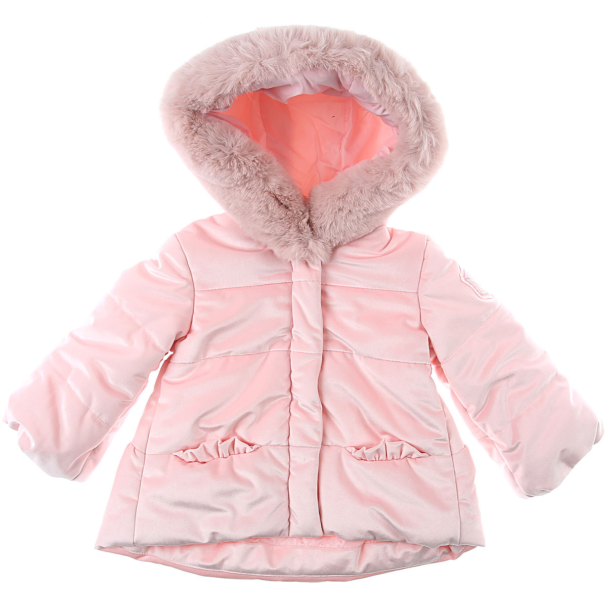 Monnalisa Baby Down Jacket for Girls On Sale, Pink, polyester, 2019, 12M 18M 2Y 9M