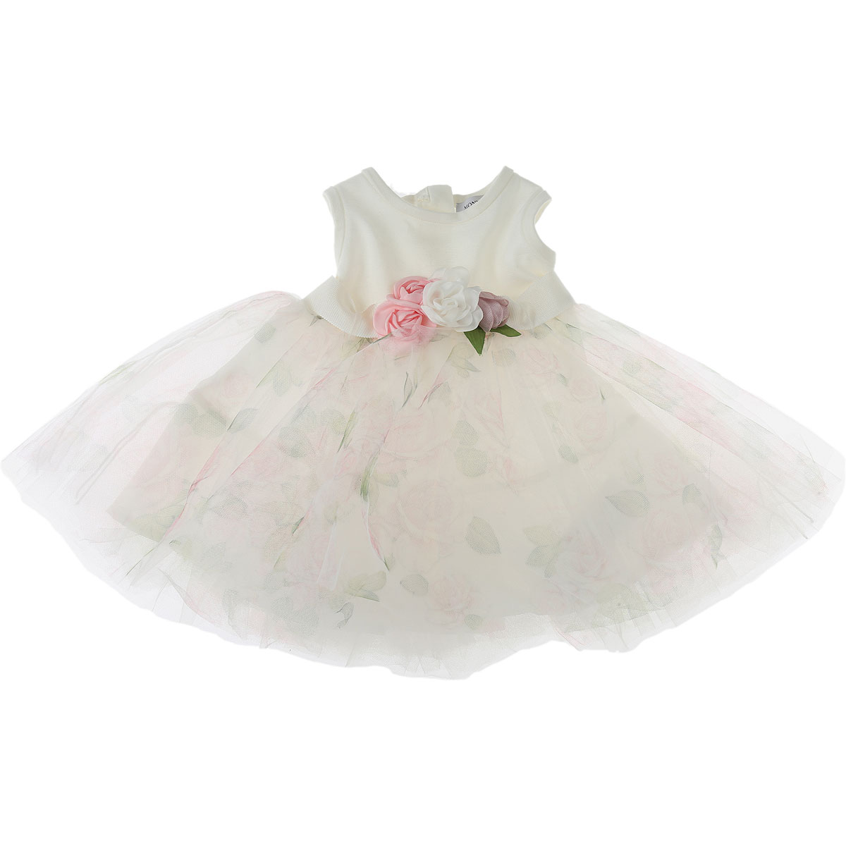 Monnalisa Baby Dress for Girls On Sale, White, polyester, 2019, 12M 18M 2Y 3Y 6M 9M