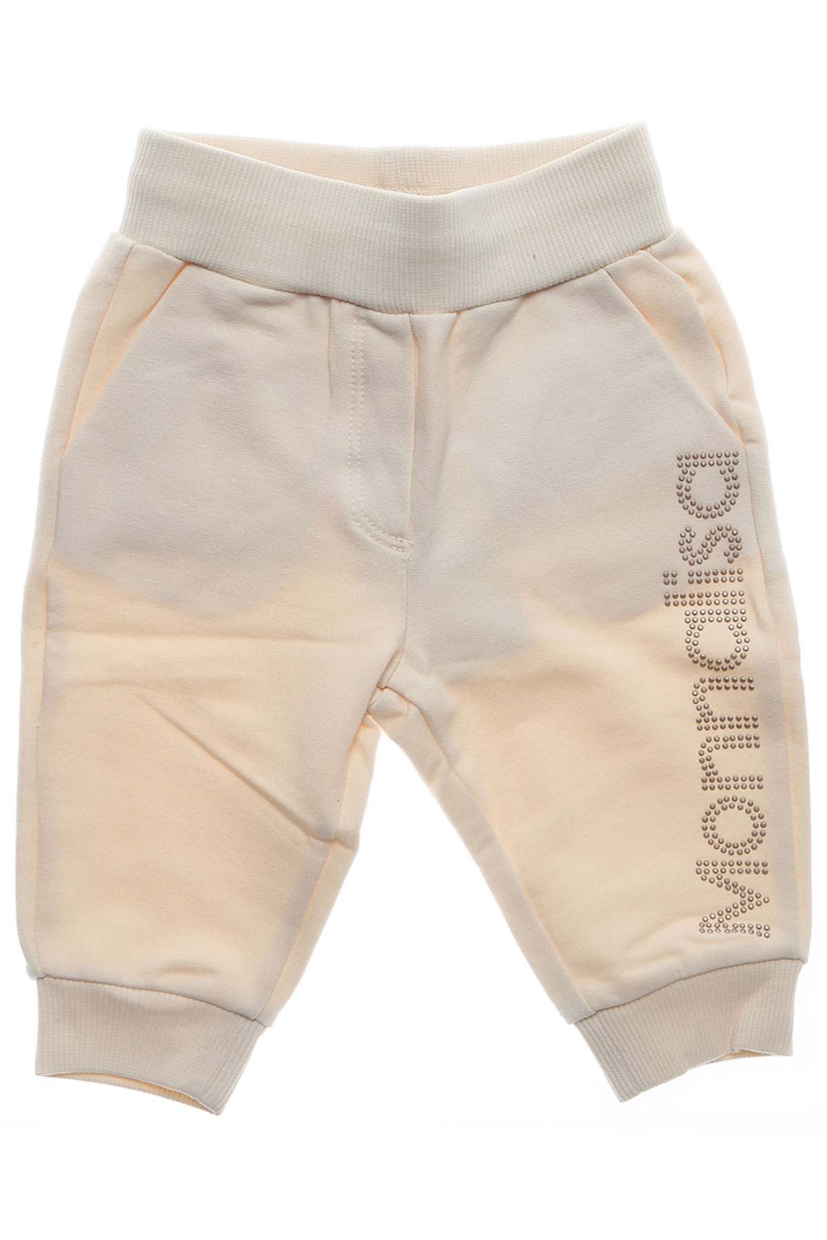 Image of Monnalisa Baby Sweatpants for Girls On Sale in Outlet, Beige, Cotton, 2017, 3M 3Y
