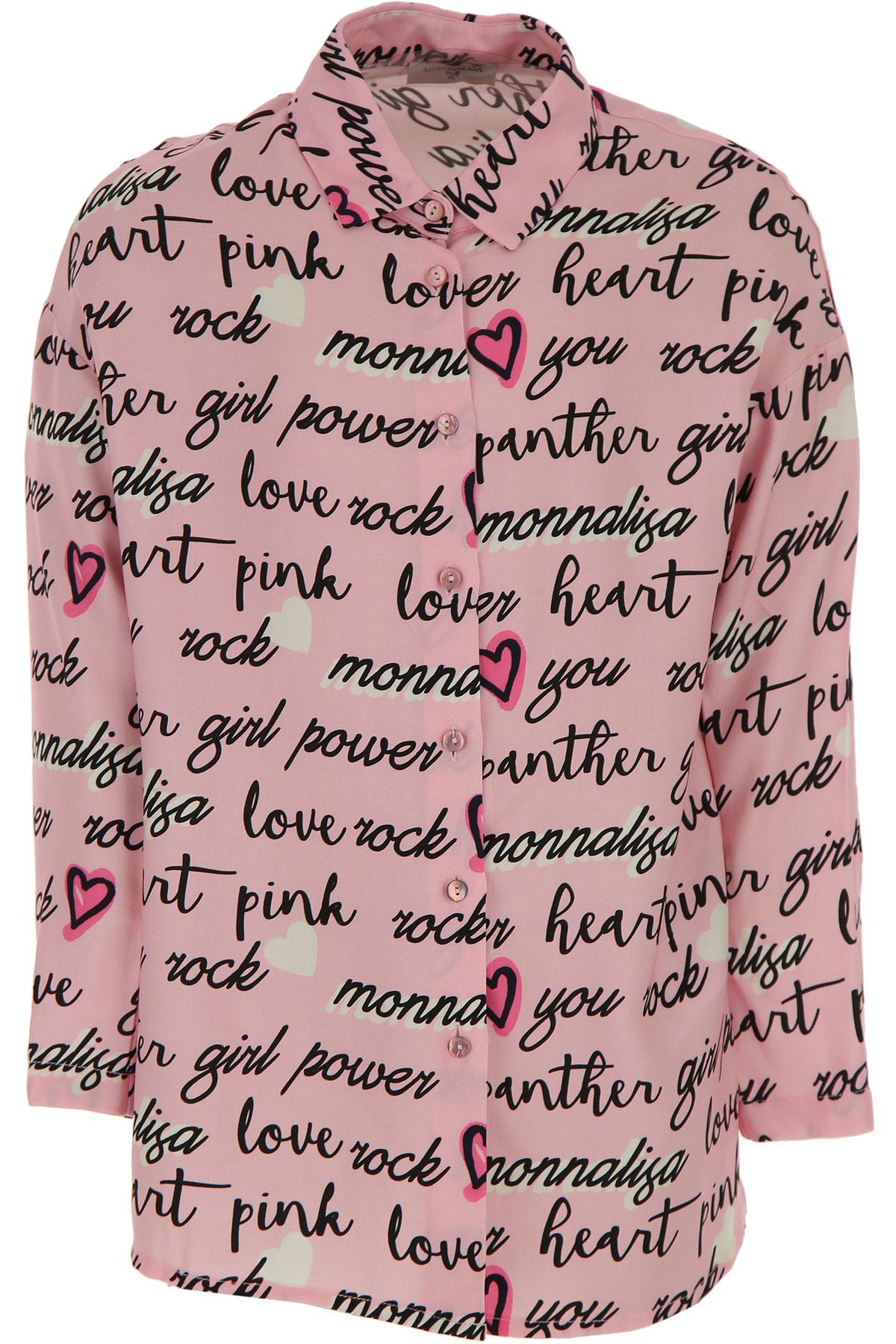 Monnalisa Chemises Enfant pour Fille Pas cher en Soldes, Rose, Viscose, 2019, 10Y 2Y 4Y 6Y 8Y