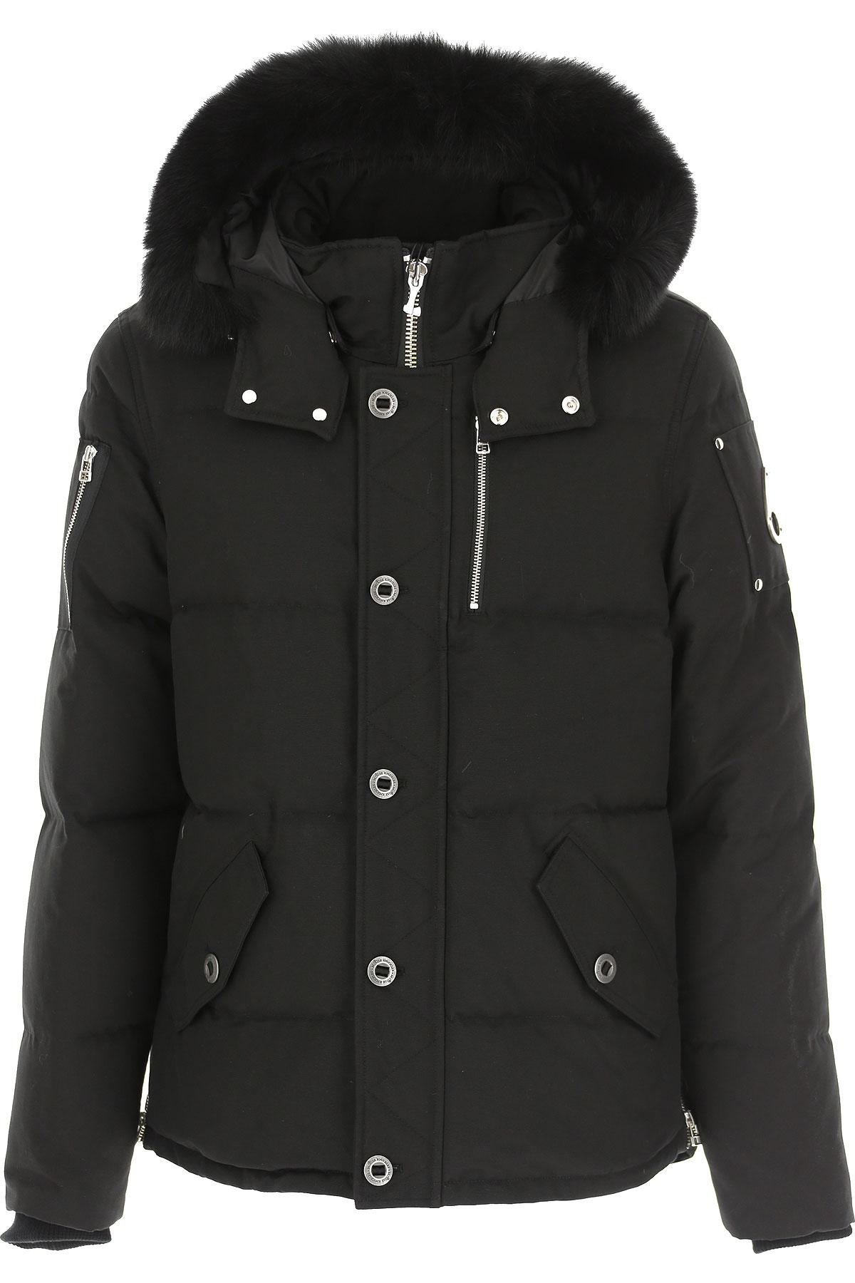 Moose Knuckles Down Jacket for Men, Puffer Ski Jacket On Sale, Black, Down, 2019, L S