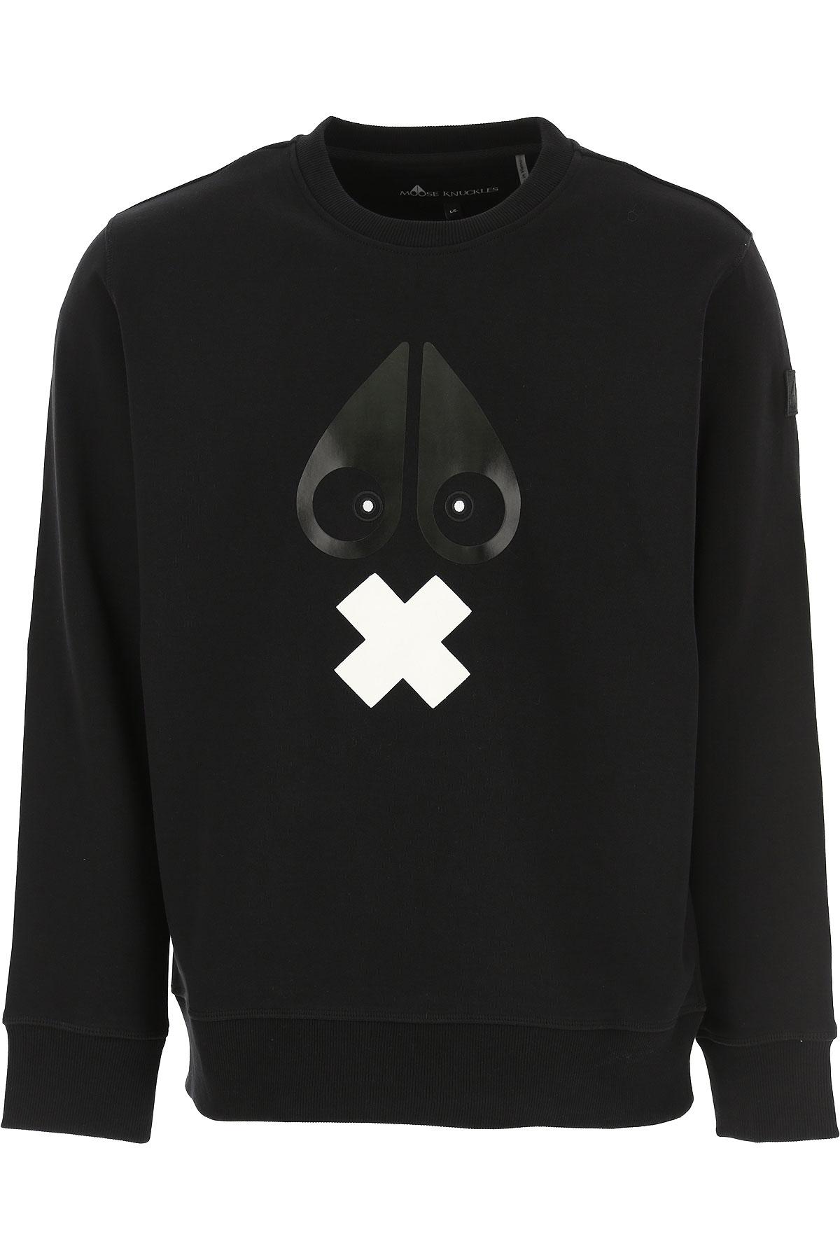 Moose Knuckles Sweatshirt for Men On Sale, Black, Cotton, 2019, L M XL