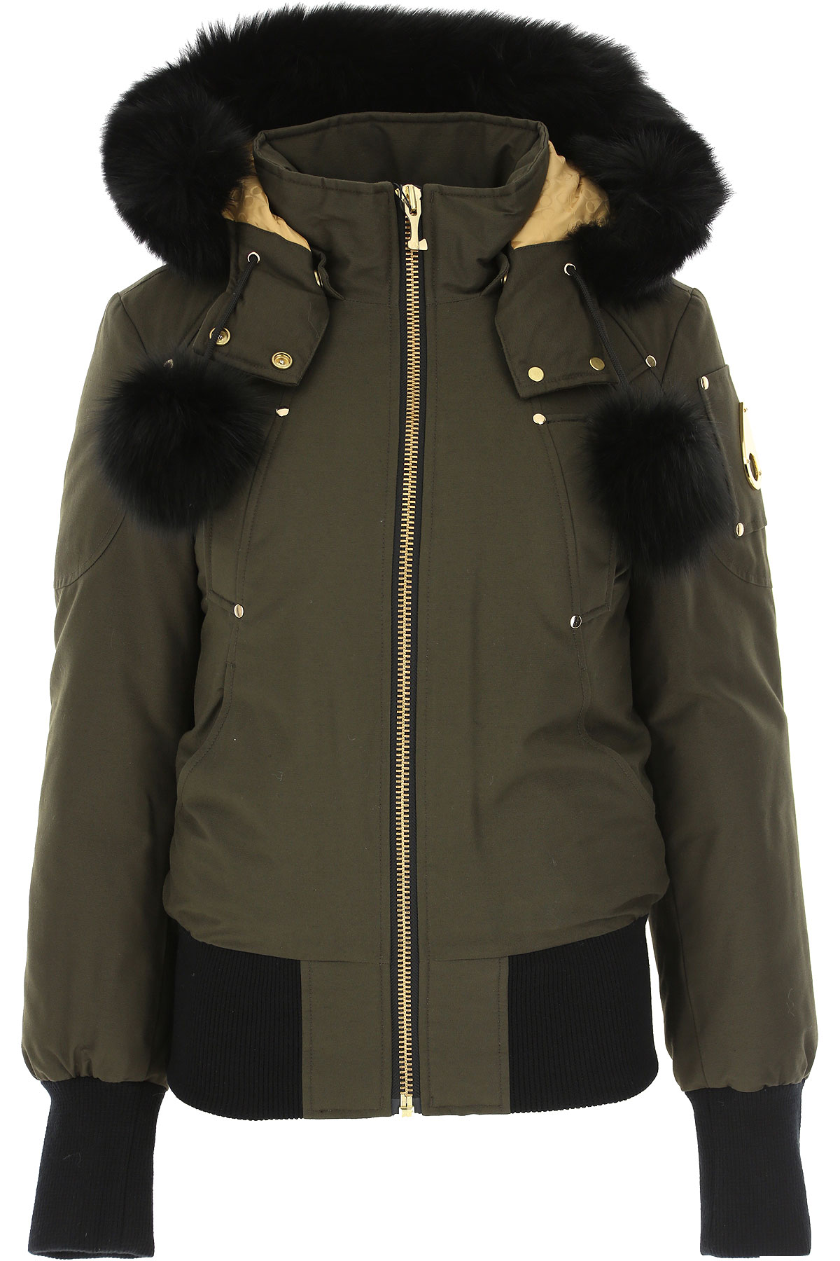 Moose Knuckles Down Jacket for Women, Puffer Ski Jacket On Sale, Military Green, Down, 2019, 2 4 6