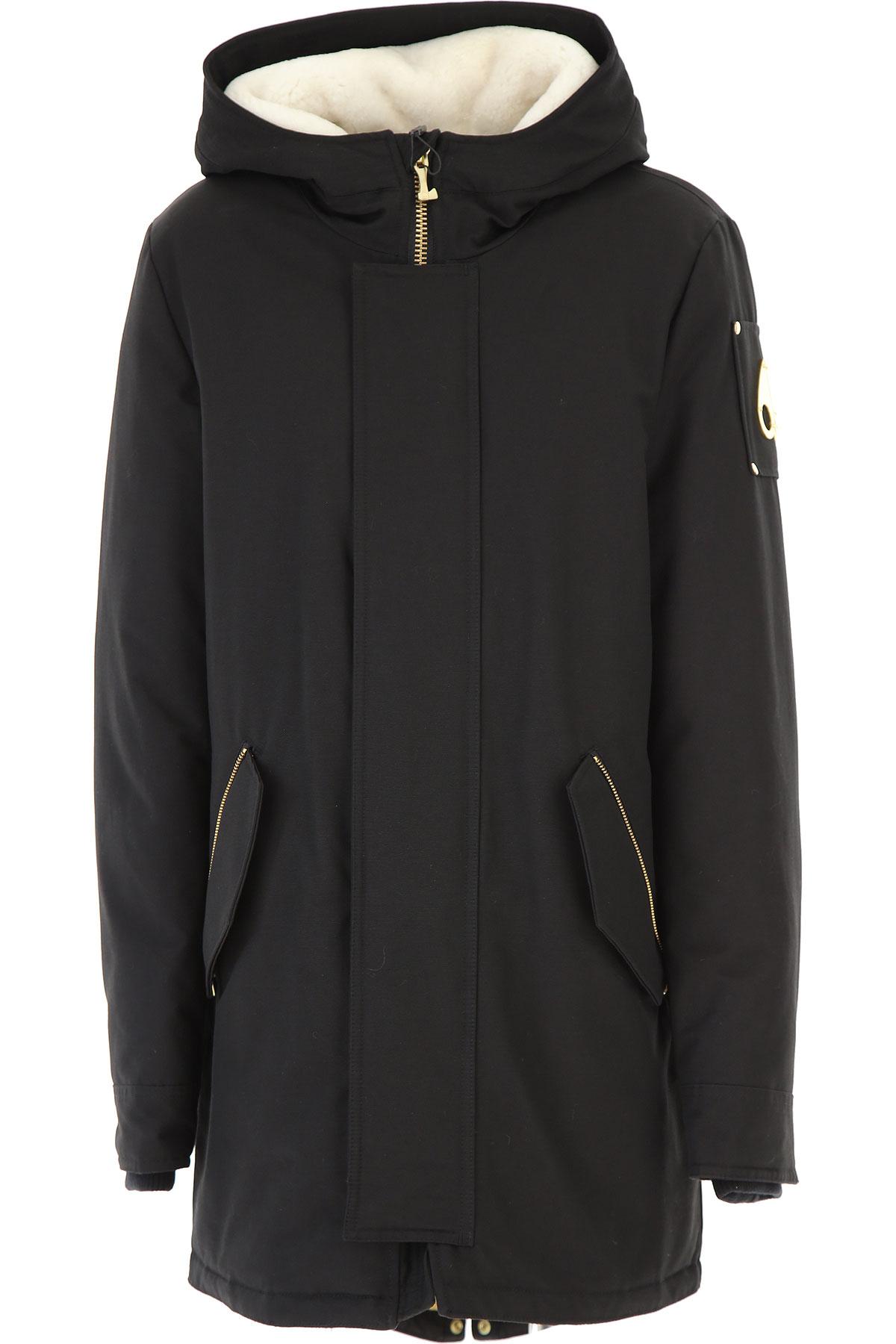 Moose Knuckles Down Jacket for Women, Puffer Ski Jacket On Sale, Black, Cotton, 2019, 4 6 8
