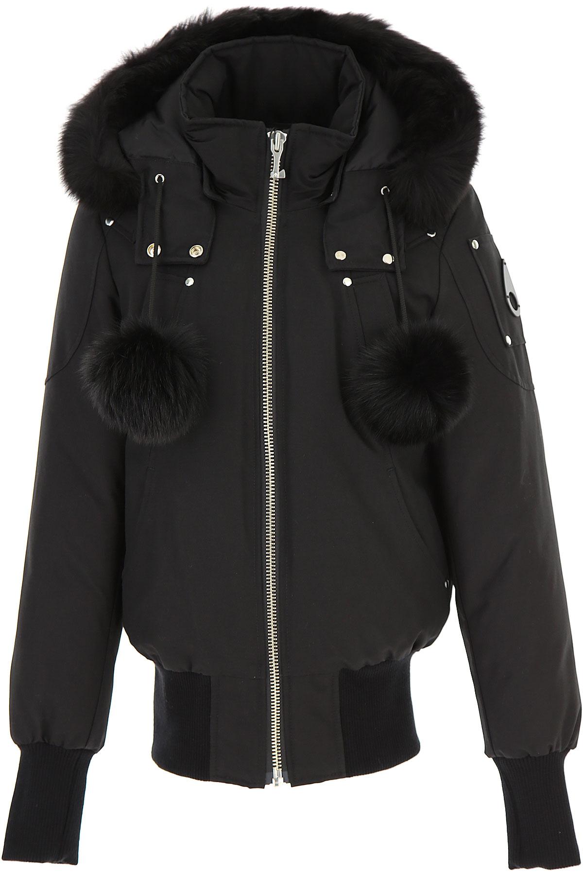 Moose Knuckles Down Jacket for Women, Puffer Ski Jacket On Sale, Black, polyester, 2019, 2 4 6