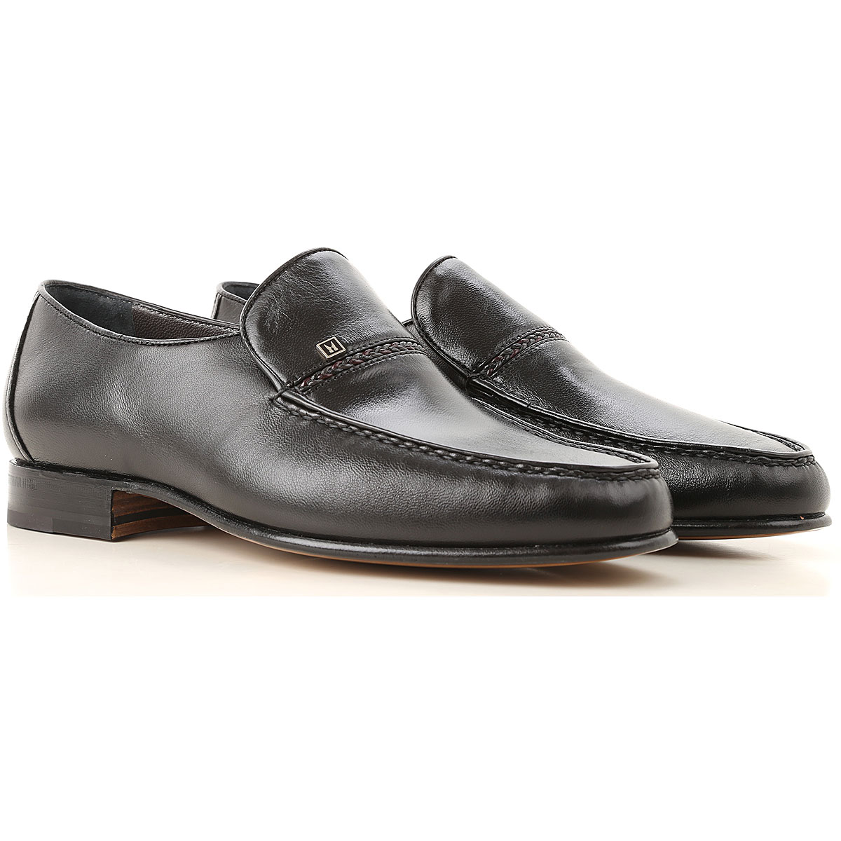 Image of Moreschi Loafers for Men, Black, Leather, 2017, 10 10.5 11 11.5 12 13 6 7 7.5 8 8.5 9 9.5