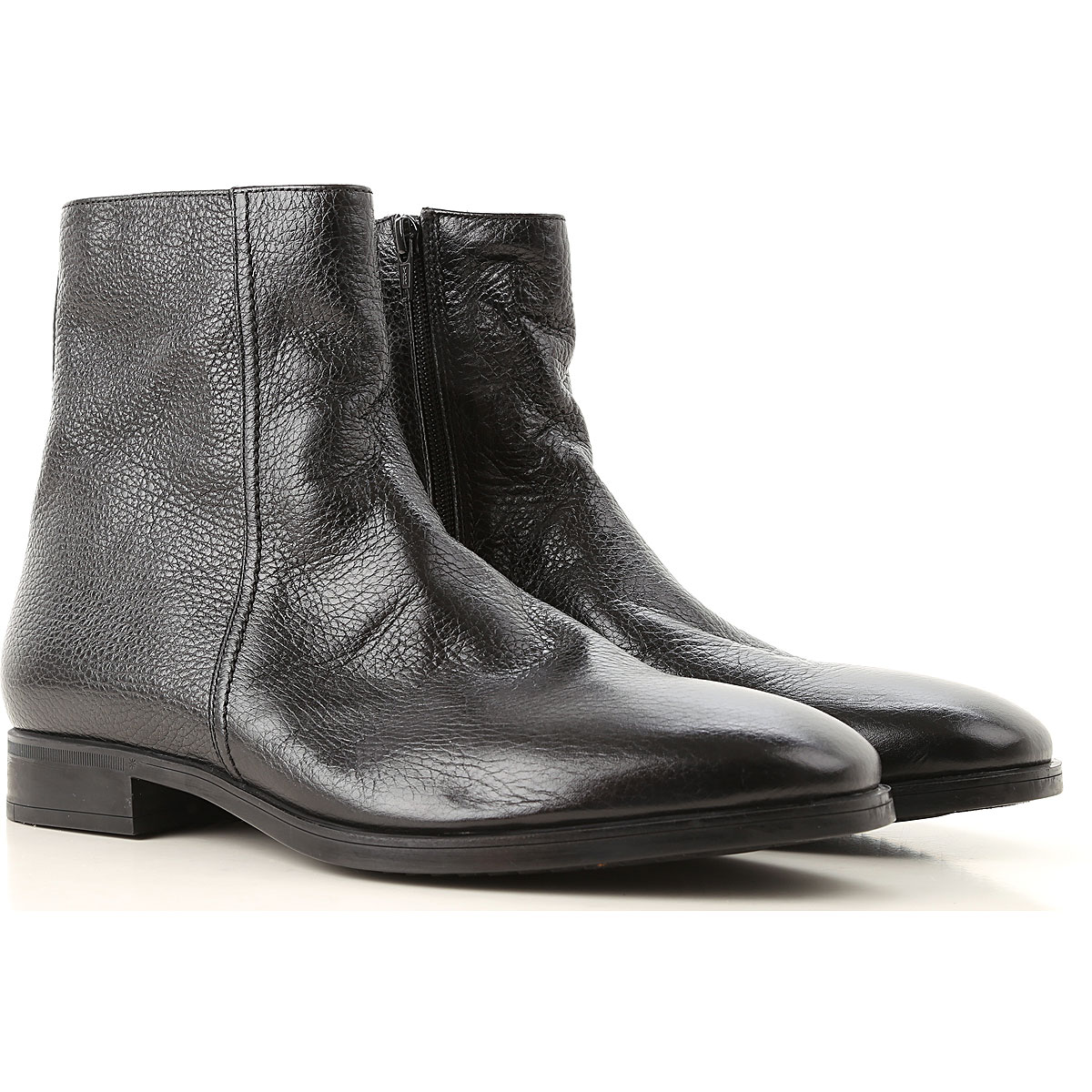 Image of Moreschi Boots for Men, Booties, Black, Leather, 2017, 10 10.5 11 11.5 12 7 7.5 8 8.5 9 9.5