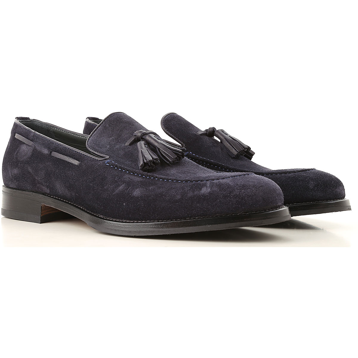 Image of Moreschi Loafers for Men, Blue, suede, 2017, 10 10.5 11 11.5 12 13 7 7.5 8 8.5 9 9.5