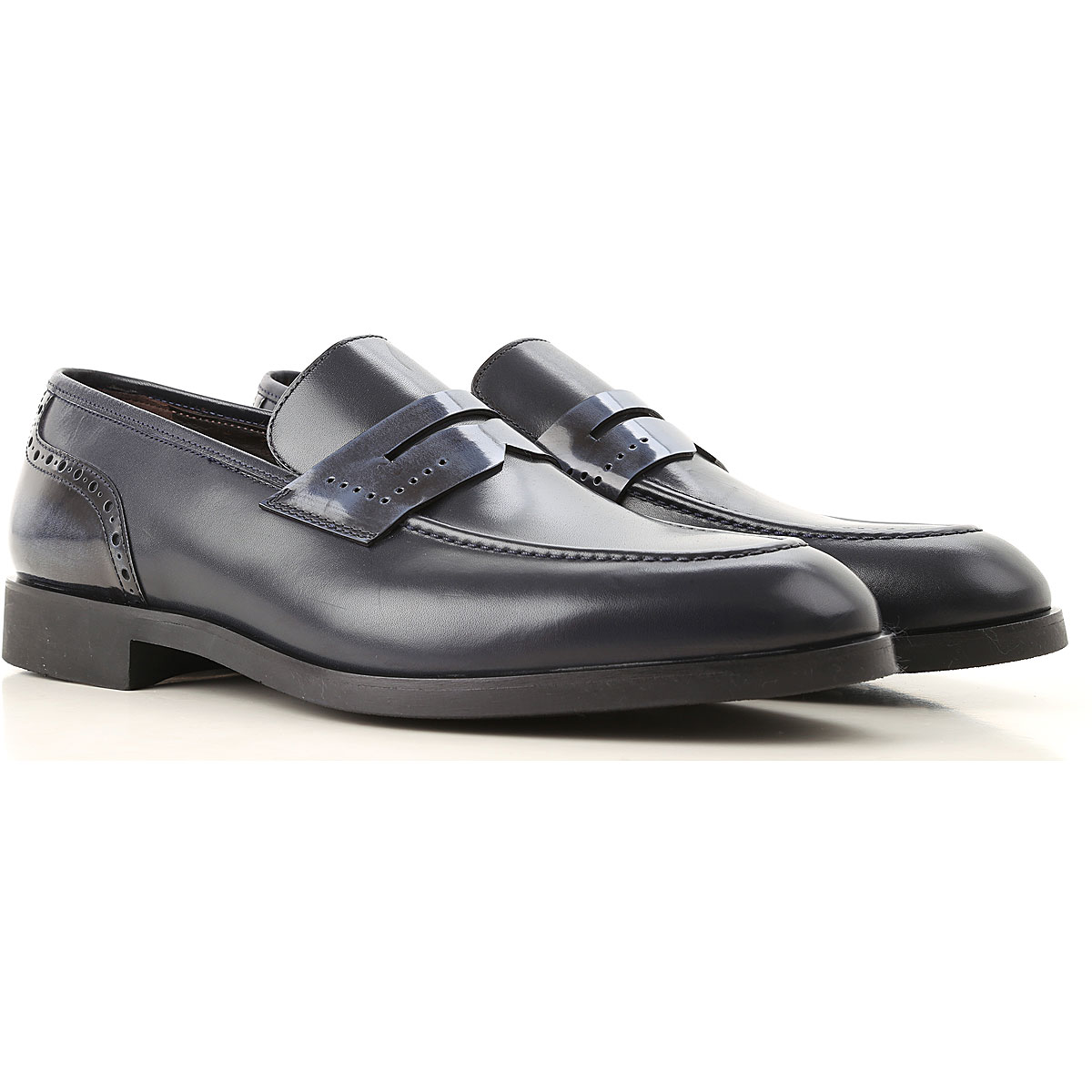 Image of Moreschi Loafers for Men, Dark Blue, Leather, 2017, 10 10.5 11 11.5 12 7 7.5 8 8.5 9 9.5