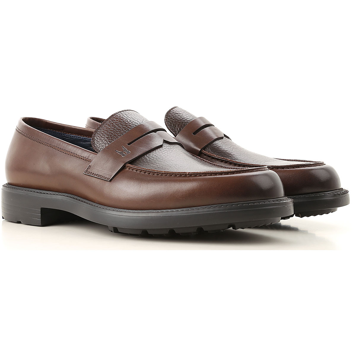 Image of Moreschi Loafers for Men, Brown, Leather, 2017, 10 10.5 11 11.5 12 13 7 7.5 8 8.5 9 9.5