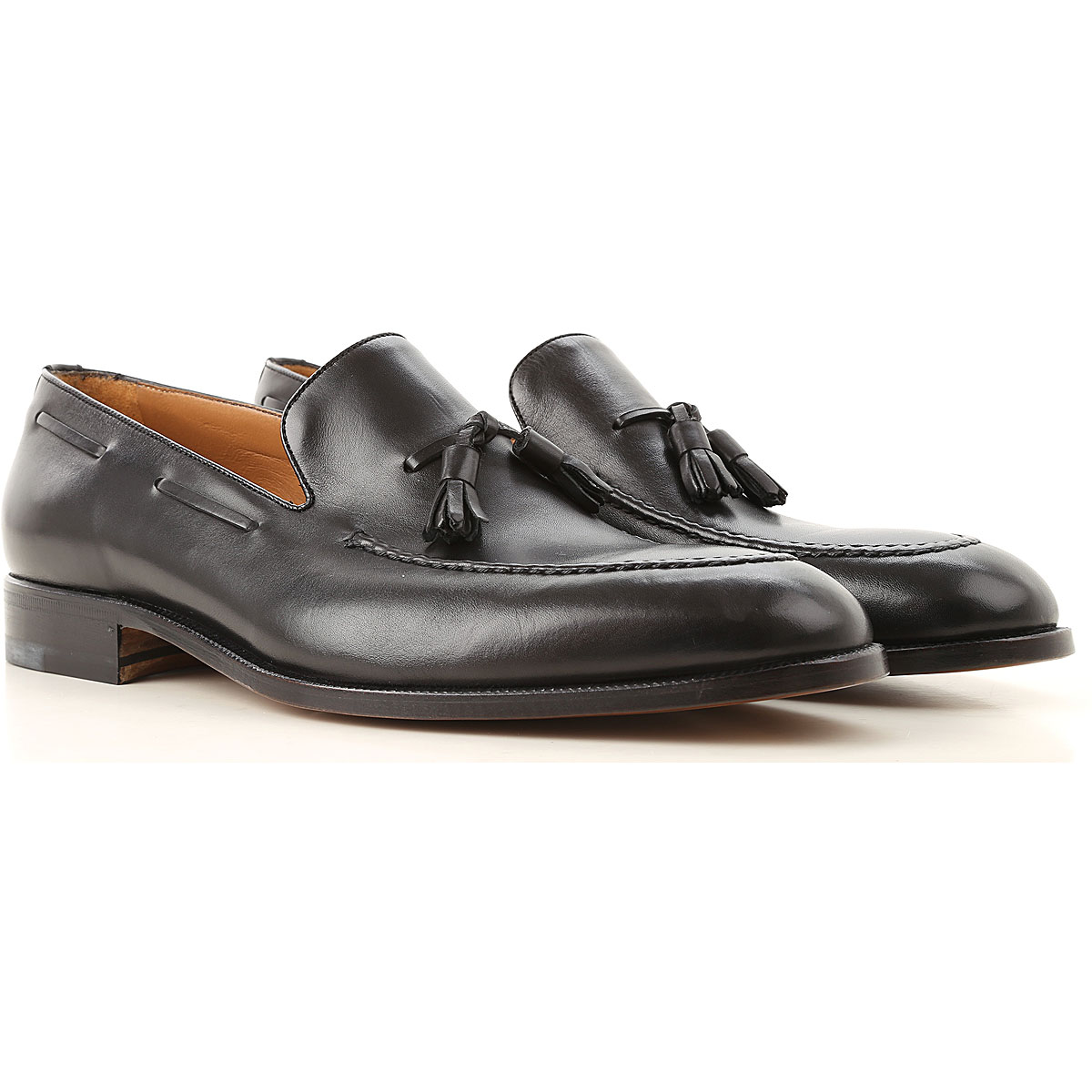 Image of Moreschi Loafers for Men, Black, Leather, 2017, 10 10.5 11 11.5 12 6 7 7.5 8 8.5 9 9.5