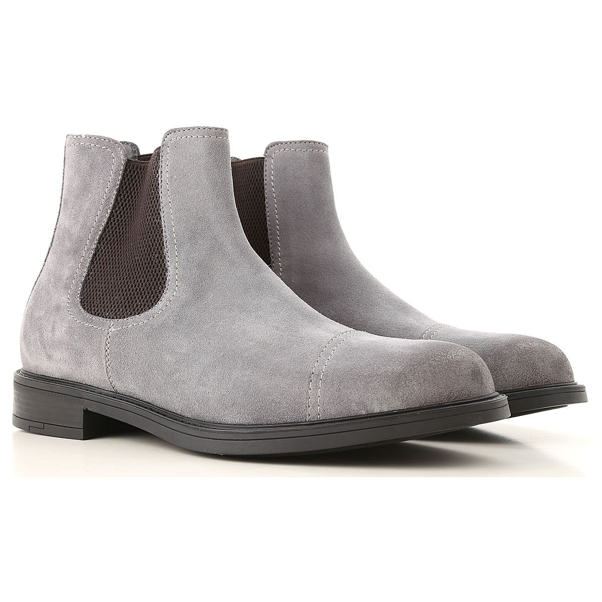 Moreschi Chelsea Boots for Men On Sale in Outlet, Grey, Suede leather, 2019, 8 9 9.5