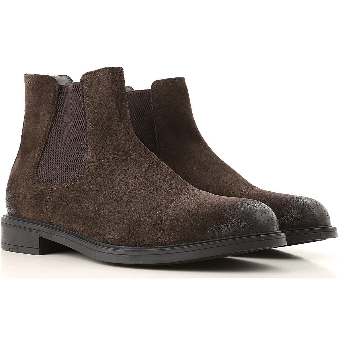Moreschi Boots for Men, Booties On Sale, Ebony, Suede leather, 2019, 8 8.5