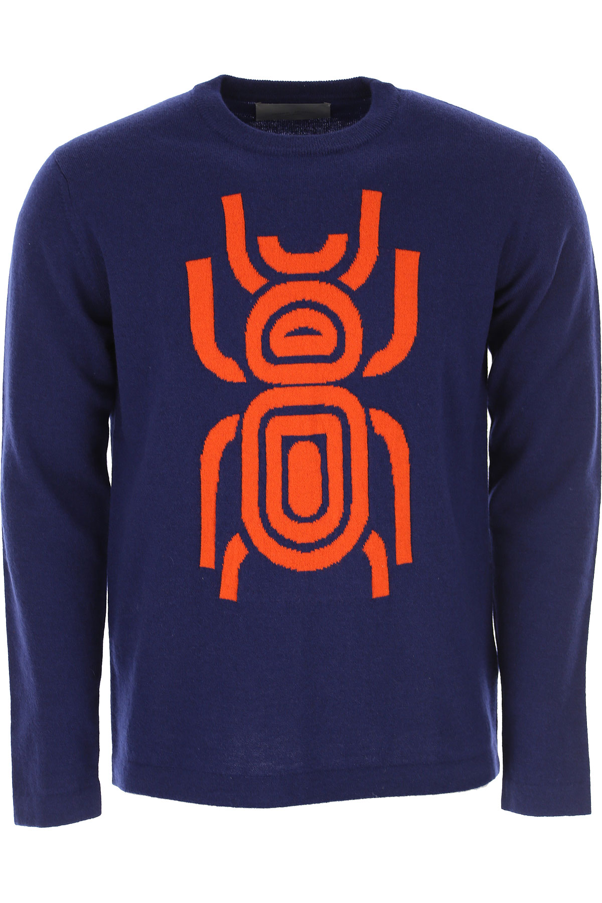 Frankie Morello Sweater for Men Jumper On Sale, Patriot Blue, Wool, 2019, L M XL