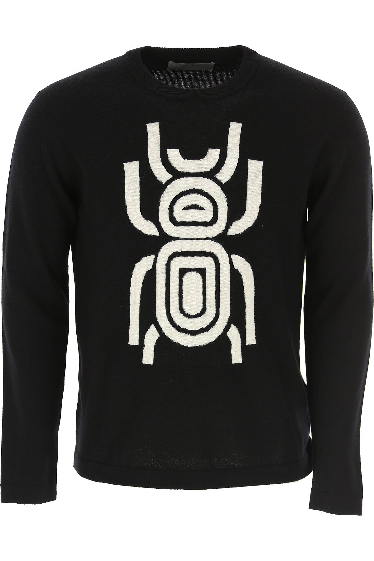 Frankie Morello Sweater for Men Jumper On Sale, Black, Wool, 2019, L M XL