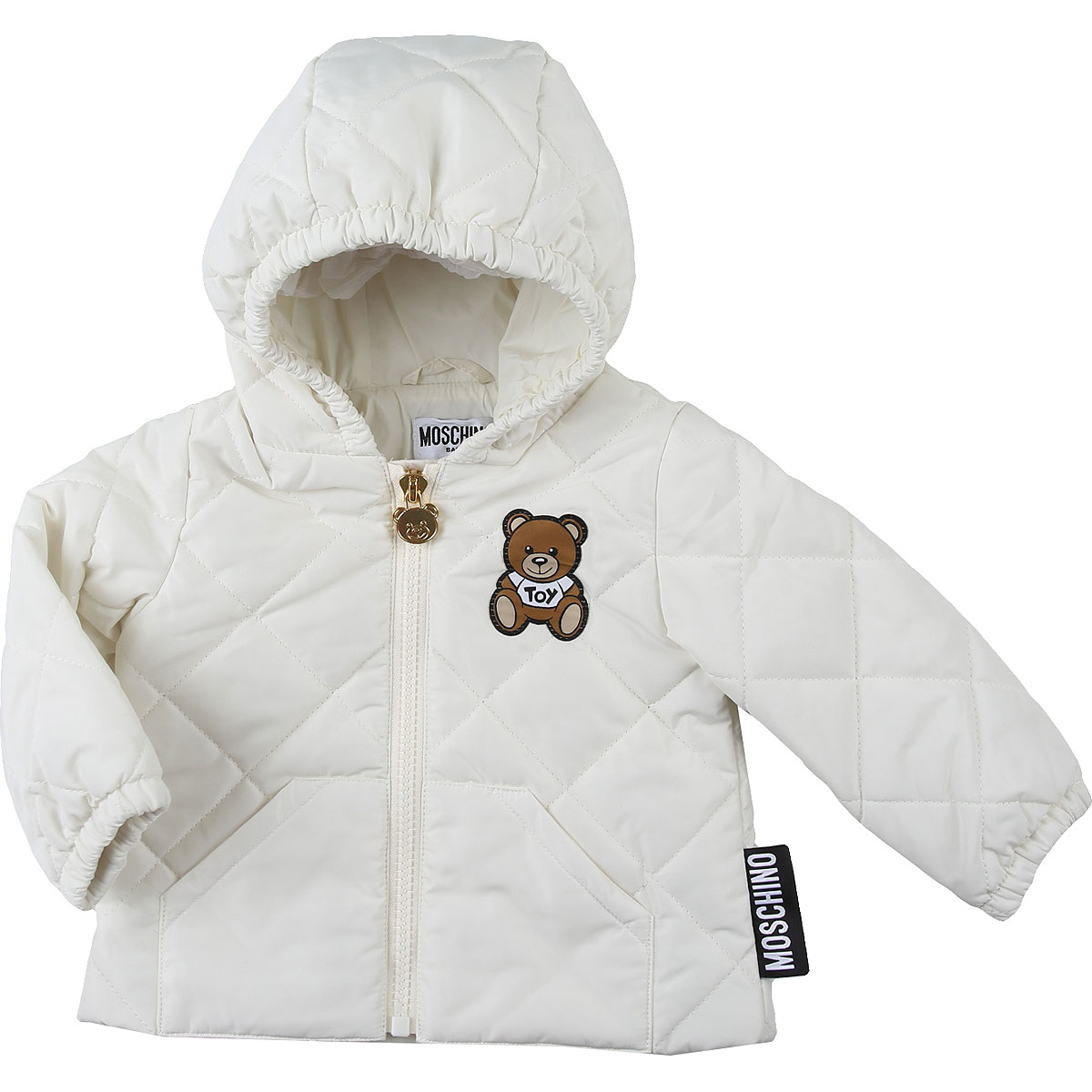 Moschino Baby Down Jacket for Boys On Sale, White, polyester, 2019, 12 M 18M 24M 2Y 3Y 9M