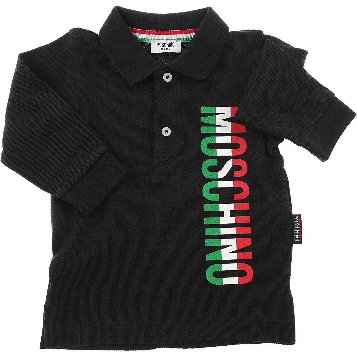 Image of Moschino Baby Boy Clothing, Black, Cotton, 2017, 24M 2Y 3Y 9M