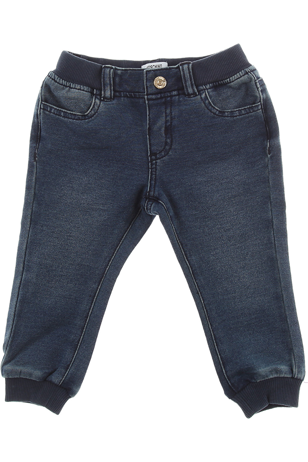 Image of Moschino Baby Jeans for Boys, Blue Denim, Cotton, 2017, 24M 2Y 3Y 9M