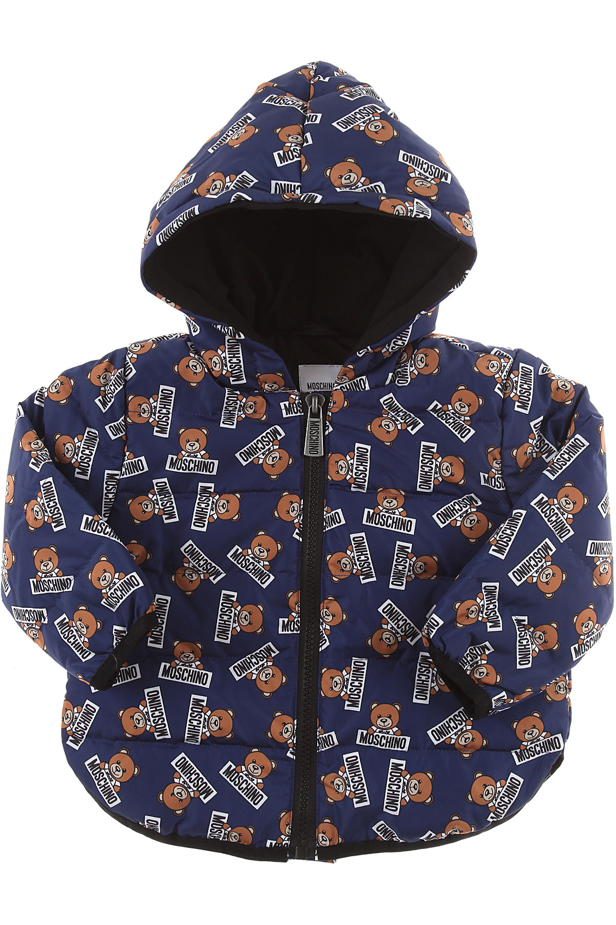 Image of Moschino Baby Down Jacket for Boys, Blue, polyester, 2017, 24M 2Y 3Y 6M 9M