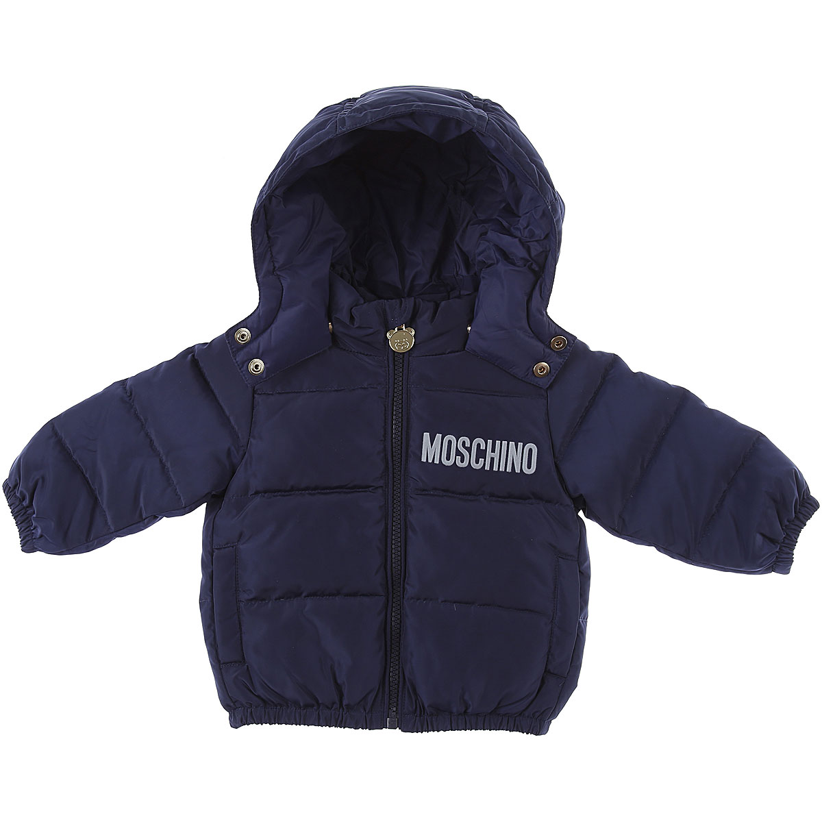 Moschino Baby Down Jacket for Boys On Sale, Blue, polyamide, 2019, 12 M 18M 24M 2Y 3Y 6M 9M