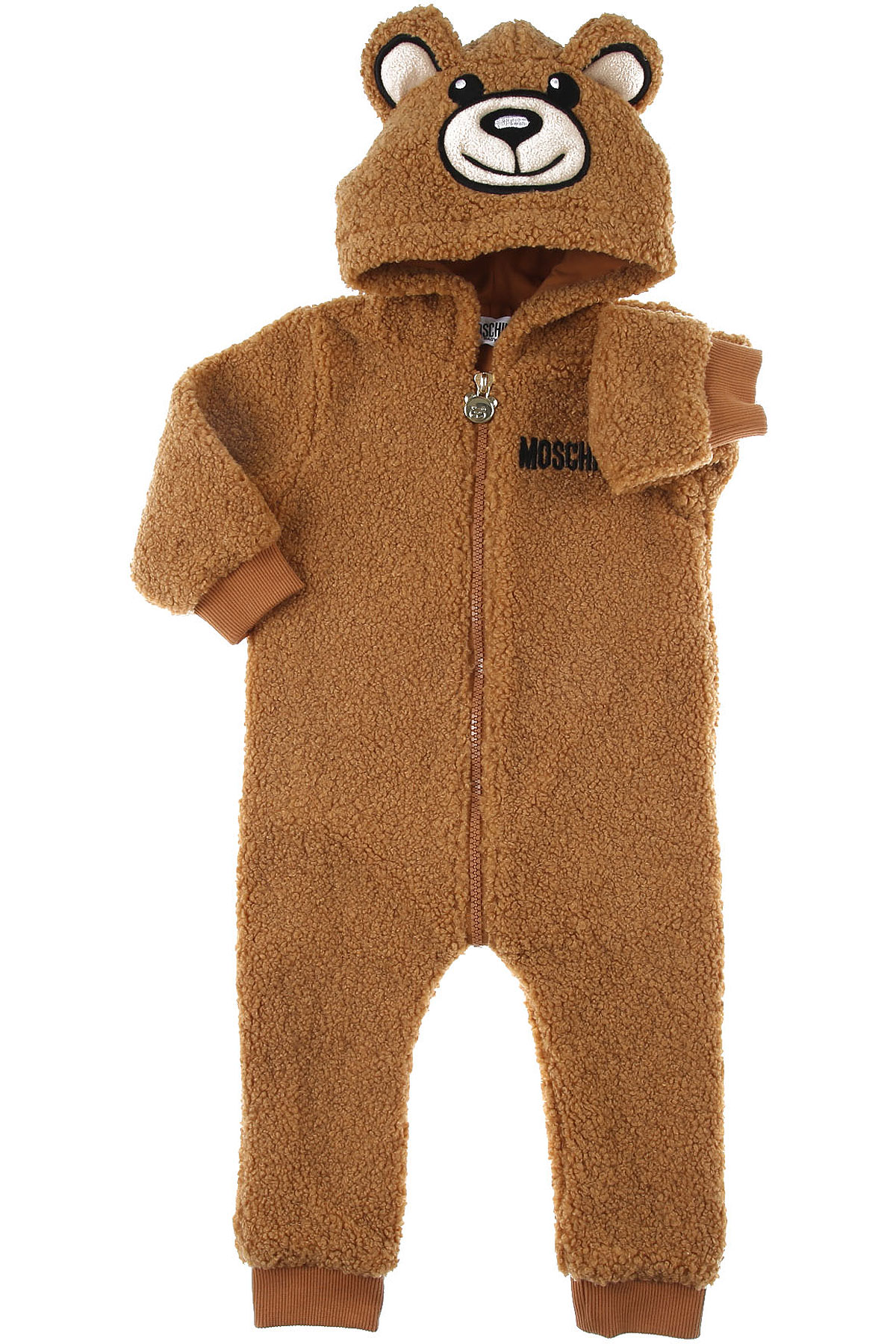 Moschino Baby Bodysuits & Onesies for Boys On Sale, Camel, polyester, 2019, 12 M 6M 9M