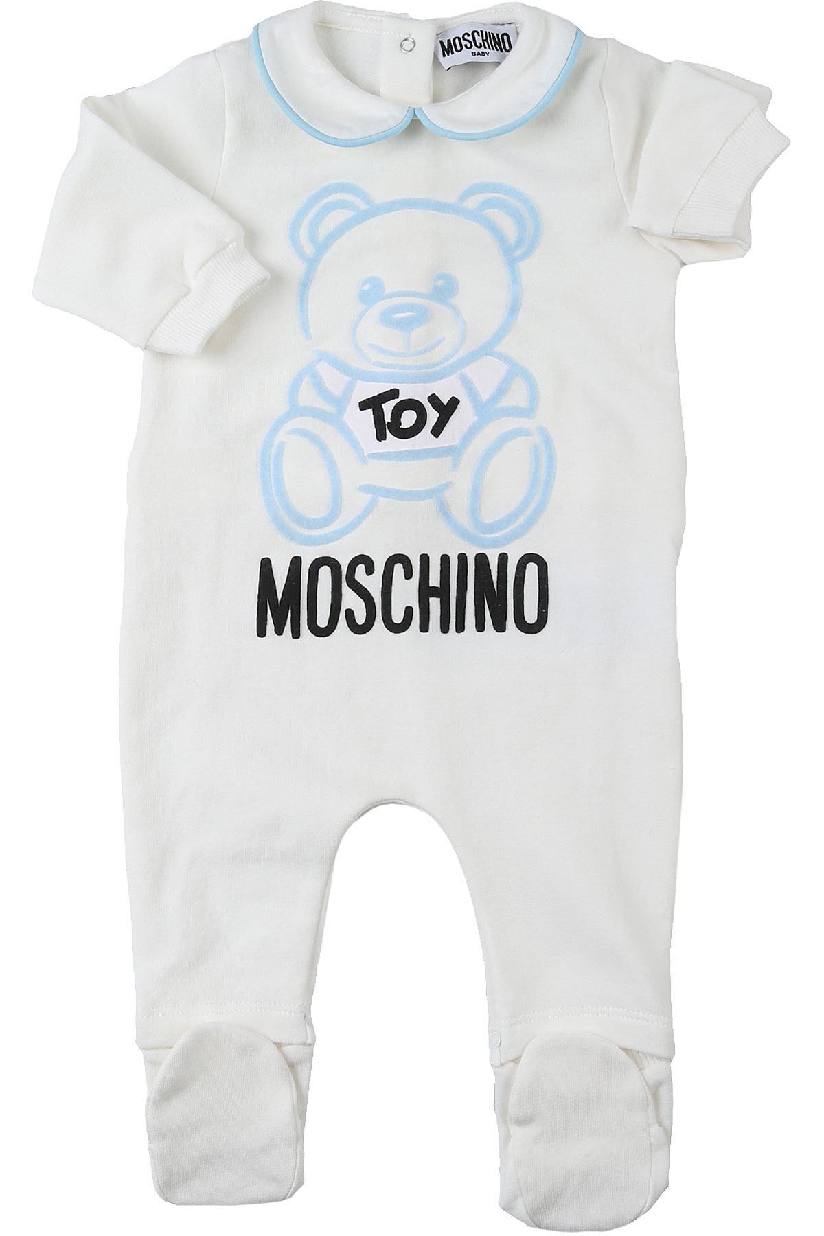 Moschino Baby Bodysuits & Onesies for Boys On Sale, White, Cotton, 2019, 3M 6M 9M
